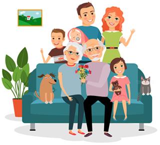 幸福健康的家庭